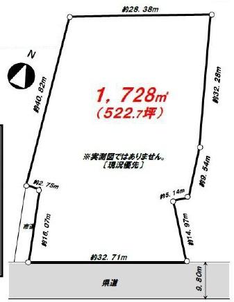 【区画図】資材置場・駐車場用地 狭山市南入曽