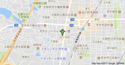 【地図】ビクトリア茨木