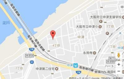 【地図】クレビオス梅田北