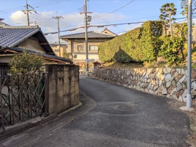 【前面道路含む現地写真】京都市山科区大塚大岩