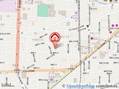 【地図】エレガンツァ・プリムラ