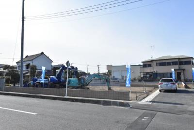【前面道路含む現地写真】加須市騎西 全4区画 建築条件付き売地