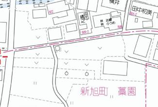 【地図】藁園147坪土地