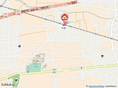 【地図】牛渕ステーションハイツ・