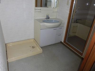 洗面脱衣所になっています。