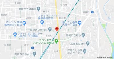 【地図】メゾン若松 (株)Roots