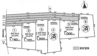 【土地図】坂戸市長岡 建築条件なし売地 「坂戸駅」4.6㎞ 敷地90坪