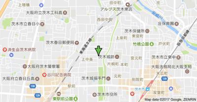 【地図】長瀬ハイツ