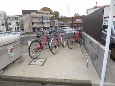 敷地内に駐輪場を完備しています!自転車があれば通勤・通学、お買い物にも便利です☆