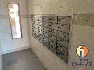郵便ポスト受取口です。