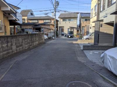 【前面道路含む現地写真】京都市山科区川田中畑町