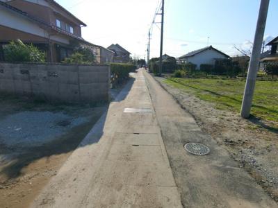 【前面道路含む現地写真】境港市渡町 売土地1
