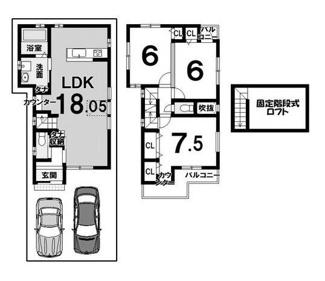 建物参考プラン延床面積:84.38平米