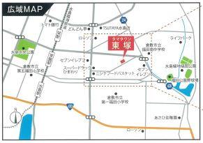 【地図】東塚戸建て 3号地
