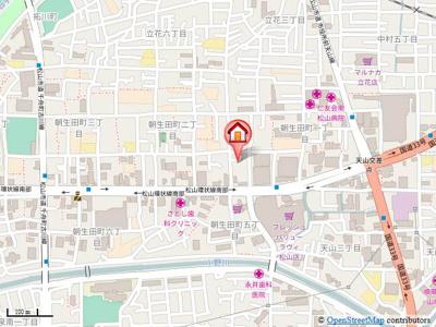 【地図】コスモリヴェール朝生田・