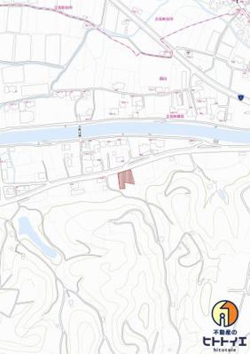 【地図】立花町 兼松 広めの土地