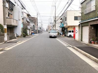 【前面道路含む現地写真】南区西九条御幸田町 売土地
