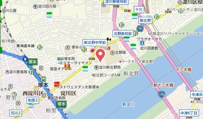 【地図】ホープ新北野