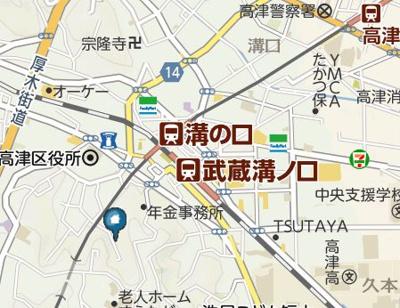 【地図】T.A川崎市高津区下作延2丁目