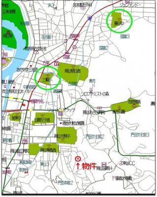 【地図】中区門田本町3丁目