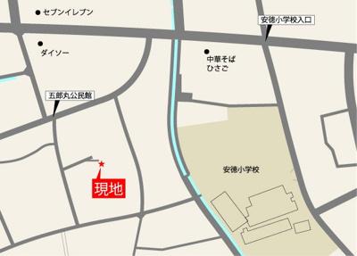 【地図】プライバシー×日当り 五郎丸1区画分譲地