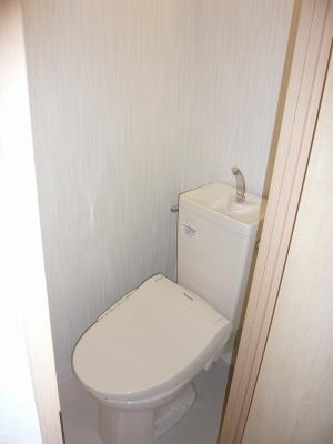 トイレは便器もシャワー便座も新調です。