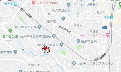 【地図】レオパレス第2ベルプラッツ(42007-207)