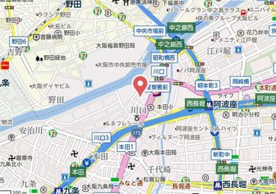 【地図】プラザ大淀