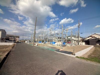 3月2日撮影 前面道路を含む現地