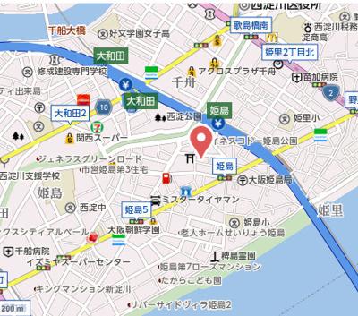 【地図】C&C姫島マンション