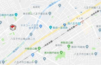 【地図】レオパレスYOSHIKO (36428-306)