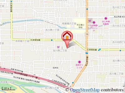 【地図】西沢ビルNO1