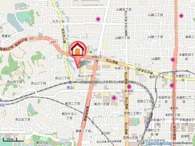 【地図】サンシャイン タガミ A・B棟・