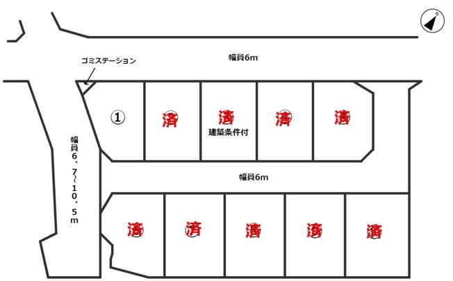 【土地図】上宮地オリンピアⅠ期10区画分譲地 区画①