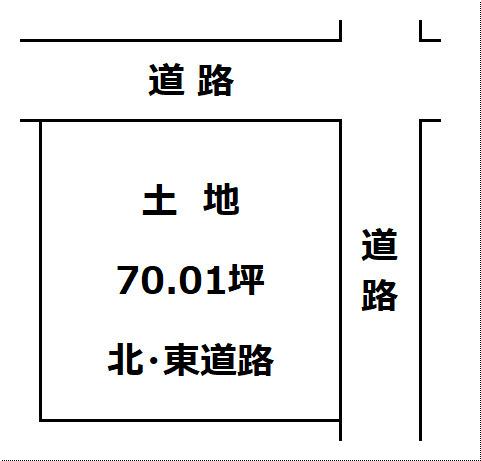【土地図】大仙市富士見町 A区画 よねや富士見町店まで車で2分300m
