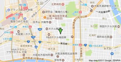 【地図】ニューシティアパートメンツ西天満