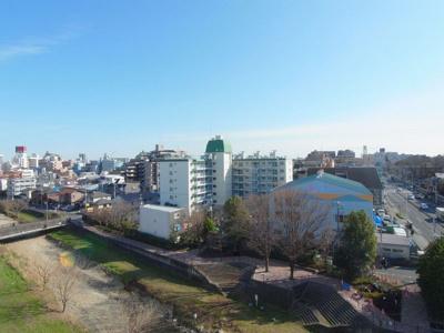 久米川マンション 701号室からの眺め 前が開けています