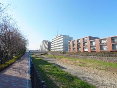 久米川マンションの周辺 空堀川沿いです