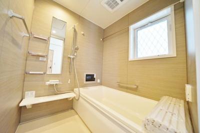 【浴室】オール電化住宅!陽当り・眺望良好♪フラット35S対応。保土ヶ谷区初音ヶ丘 新築未入居戸建て