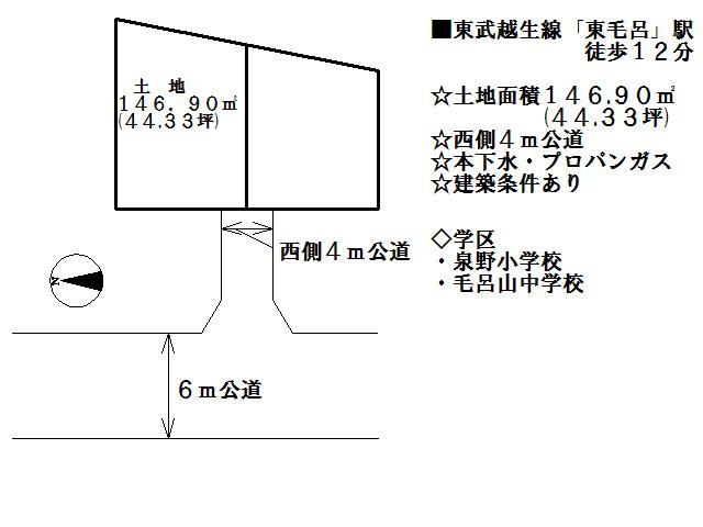 【土地図】入間郡毛呂山町平山1丁目 売地