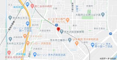 【地図】シャトーノーブルB棟