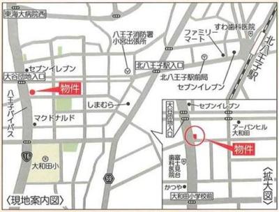 【地図】八王子市大和田町4丁目 準住居地域 売ビル