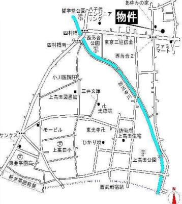 コーポ落合の地図☆