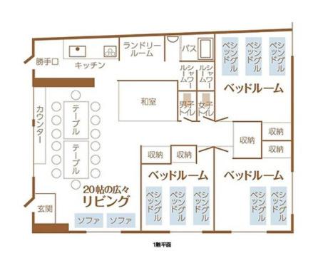 1F:旅館業 間取り図