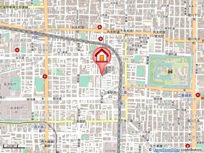 【地図】西ノ京星池町貸家(南棟)