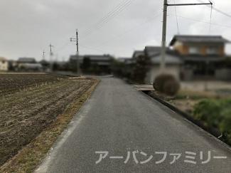 【前面道路含む現地写真】野洲市小南 売土地