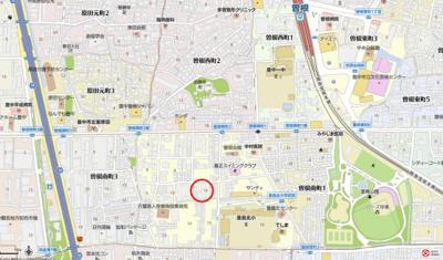 【地図】コスモ豊中曽根