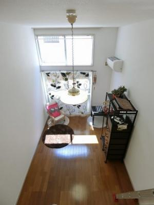 ロフトからの景観です!天井が高く開放感のある洋室5.7帖のお部屋です☆
