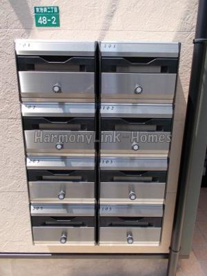 アーバンプレイス南阿佐ヶ谷ⅡAの郵便ボックス(同一仕様写真)