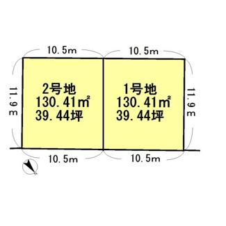 【土地図】守山市千代町【2区画】2号地 売土地